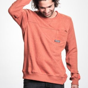 BLUZA MYSTIC 2017 COMMON SWEAT BURNED ORANGE