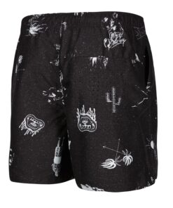 Boardshorty Mystic Coast Boardshort Black/White-2