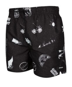 Boardshorty Mystic Coast Boardshort Black/White